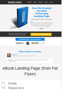 LeadPages ebook landing page