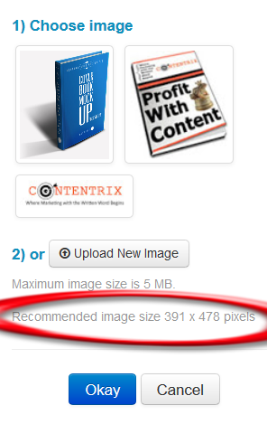 LeadPages recommended size