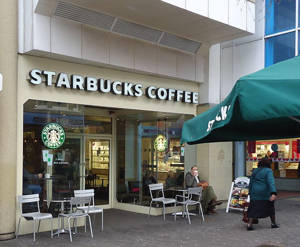 starbucks selling coffee in the land
