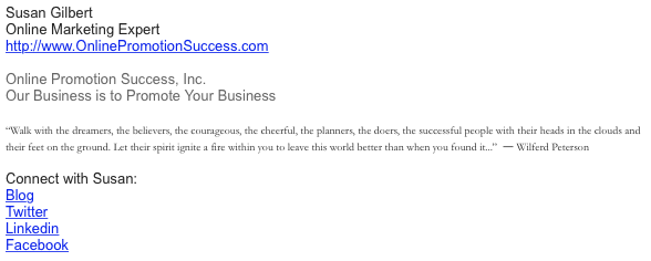 professional signature for email