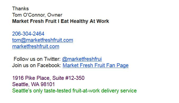 MFF email signature