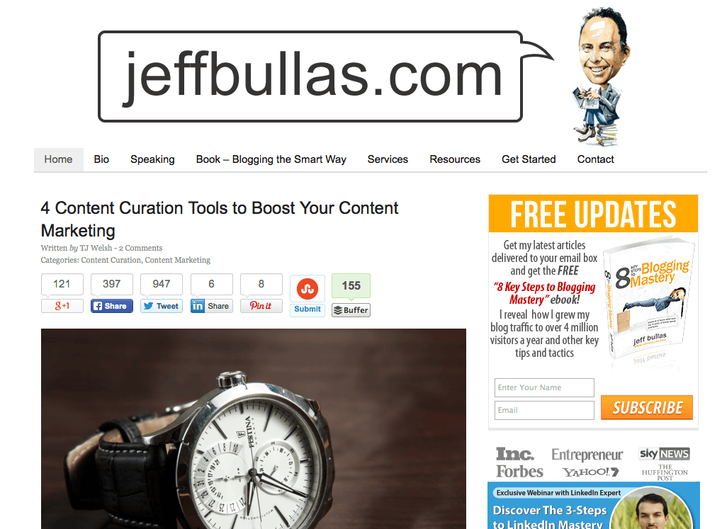 jeffbullasblog Stand Out Online with Great Content Marketing