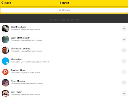 Add to your network by searching for other Twitter users or those similar to your connections, which Meerkat lists for you susangilbert.com