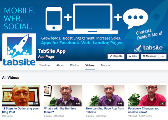 TabSite: Showcase your latest YouTube videos on Facebook Page