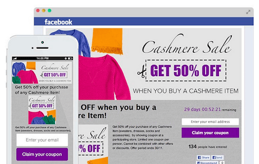 Wishpond: Attract New Facebook Fans with Coupons